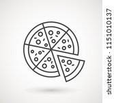 .pizza icon. pizza in flat... | Shutterstock .eps vector #1151010137