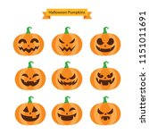 halloween elements. halloween... | Shutterstock .eps vector #1151011691