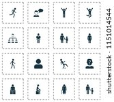 person icons set with human ... | Shutterstock .eps vector #1151014544