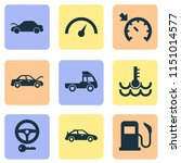 automobile icons set with key ... | Shutterstock . vector #1151014577