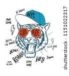 hand drawn tiger illustration ... | Shutterstock .eps vector #1151022317