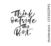 think outside the box phrase.... | Shutterstock .eps vector #1151022941