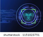 face recognition system concept ... | Shutterstock .eps vector #1151023751