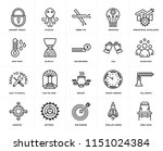 set of 20 simple editable icons ... | Shutterstock .eps vector #1151024384