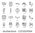 set of 20 icons such as... | Shutterstock .eps vector #1151024564