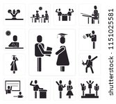 set of 13 simple editable icons ... | Shutterstock .eps vector #1151025581