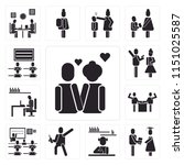 set of 13 simple editable icons ... | Shutterstock .eps vector #1151025587