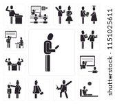 set of 13 simple editable icons ... | Shutterstock .eps vector #1151025611