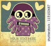 monster on retro background | Shutterstock .eps vector #115102687