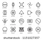 set of 20 icons such as pisces  ... | Shutterstock .eps vector #1151027357