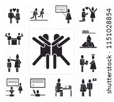 set of 13 simple editable icons ... | Shutterstock .eps vector #1151028854