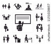 set of 13 simple editable icons ... | Shutterstock .eps vector #1151028857