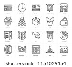 set of 20 icons such as grocery ...