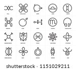 set of 20 icons such as zinc ... | Shutterstock .eps vector #1151029211