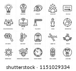 set of 20 simple editable icons ... | Shutterstock .eps vector #1151029334