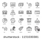 set of 20 icons such as change  ...