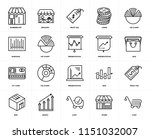 set of 20 icons such as cart ...