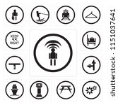 set of 13 simple editable icons ... | Shutterstock .eps vector #1151037641