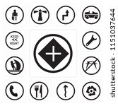 set of 13 simple editable icons ... | Shutterstock .eps vector #1151037644