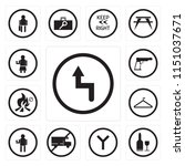 set of 13 simple editable icons ... | Shutterstock .eps vector #1151037671