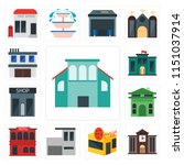 set of 13 simple editable icons ... | Shutterstock .eps vector #1151037914