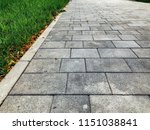 perspective view monotone gray... | Shutterstock . vector #1151038841