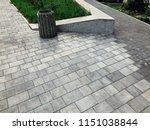 perspective view monotone gray... | Shutterstock . vector #1151038844