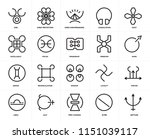 set of 20 icons such as neptune ... | Shutterstock .eps vector #1151039117