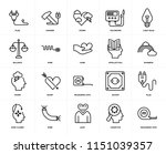 set of 20 icons such as... | Shutterstock .eps vector #1151039357