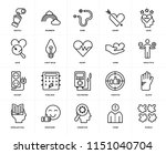 set of 20 icons such as puzzle  ... | Shutterstock .eps vector #1151040704