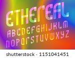 ethereal letters alphabet.... | Shutterstock .eps vector #1151041451