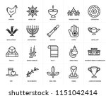 set of 20 icons such as laver...