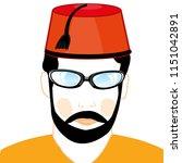 man in turkish hat | Shutterstock .eps vector #1151042891