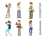 set of smart professional... | Shutterstock .eps vector #1151047154