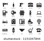 set of 20 icons such as antique ...