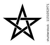 pentagram sign   five pointed... | Shutterstock .eps vector #1151052971