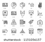 set of 20 icons such as bag ...