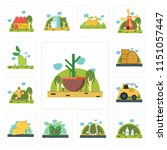 set of 13 simple editable icons ...   Shutterstock .eps vector #1151057447