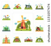 set of 13 simple editable icons ... | Shutterstock .eps vector #1151057474