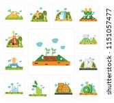 set of 13 simple editable icons ...   Shutterstock .eps vector #1151057477