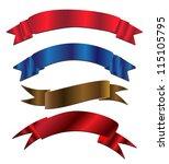 ribbon banners . | Shutterstock .eps vector #115105795