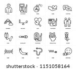 set of 20 icons such as... | Shutterstock .eps vector #1151058164