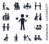 set of 13 simple editable icons ... | Shutterstock .eps vector #1151065277