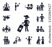 set of 13 simple editable icons ... | Shutterstock .eps vector #1151065427