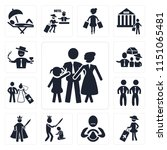 set of 13 simple editable icons ... | Shutterstock .eps vector #1151065481