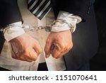 businessmen were arrested and... | Shutterstock . vector #1151070641