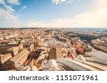beautiful panoramic view on ... | Shutterstock . vector #1151071961