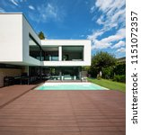 exterior modern white villa... | Shutterstock . vector #1151072357