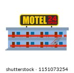 motel isolated. small cheap... | Shutterstock .eps vector #1151073254