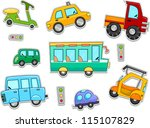 illustration of land vehicles... | Shutterstock .eps vector #115107829
